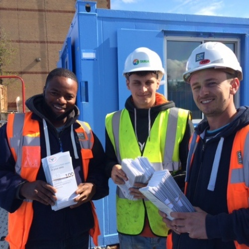 Leaflet: Construction work in your area